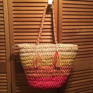 Colorful Straw Bag